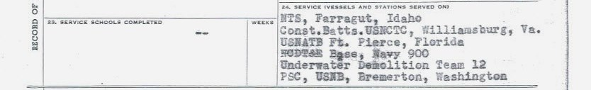 WWII Navy report of separation vessels