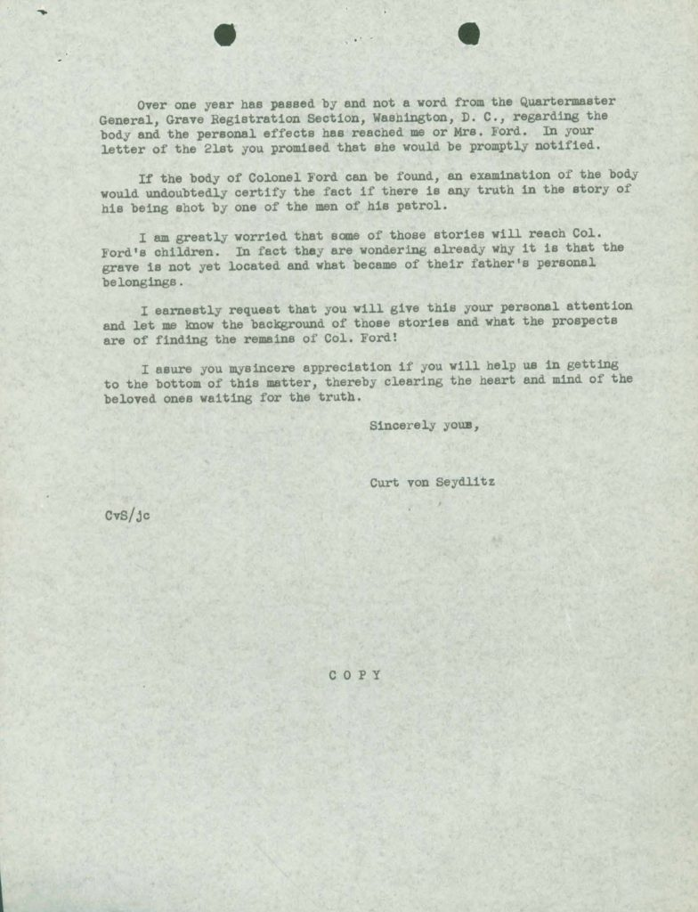 WWII Letter from KIA Casualty IDPF page 2