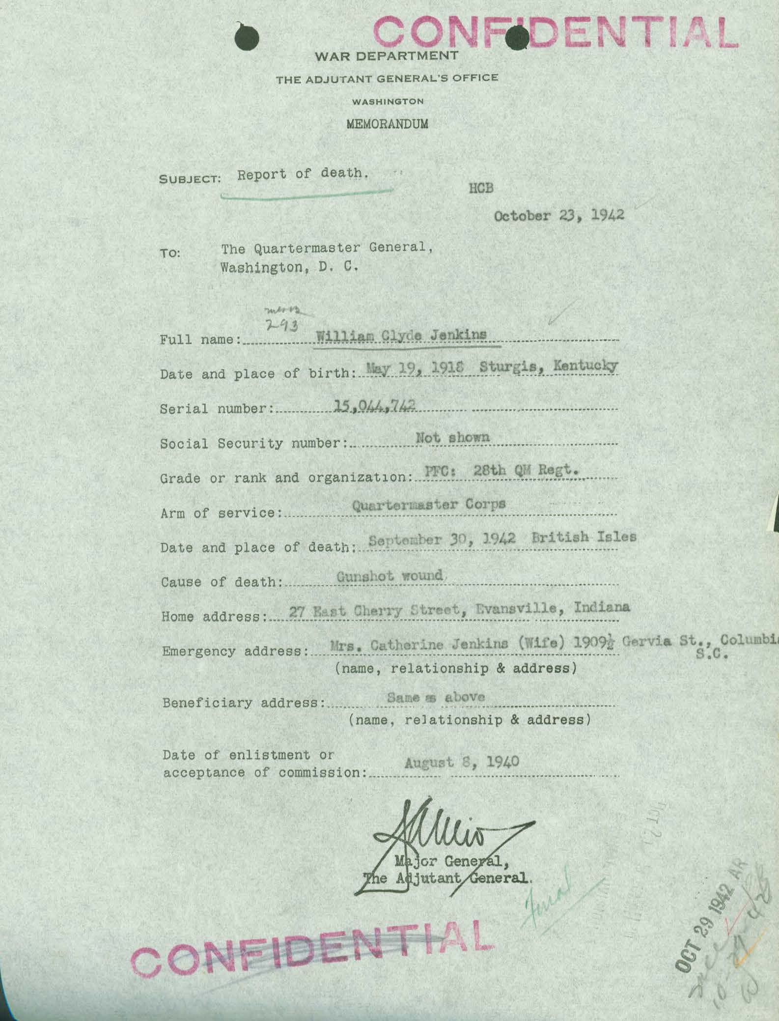 WWII Casualty Records: Understanding the WWII Individual